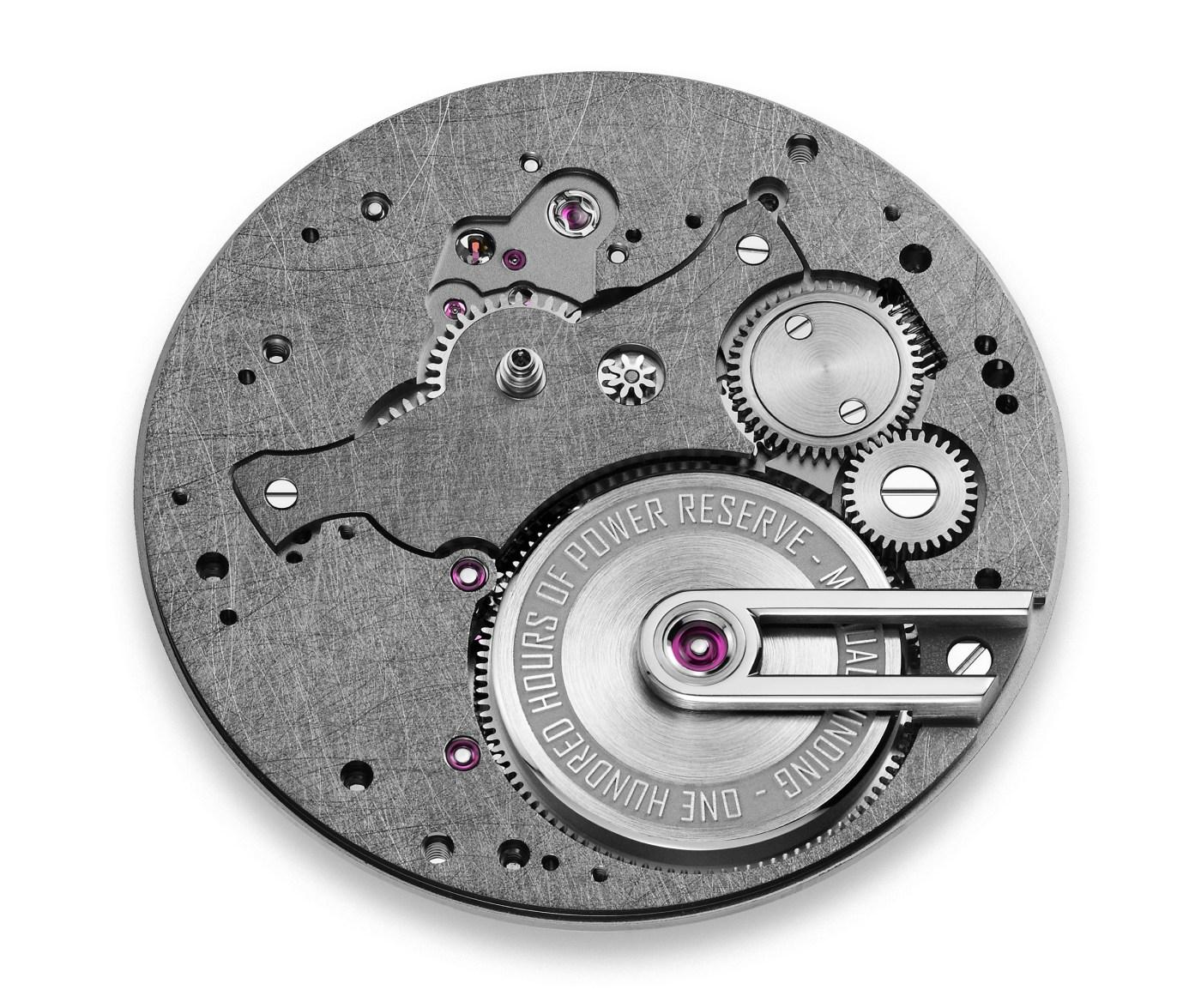 Armin Strom caliber AMW21 dial side
