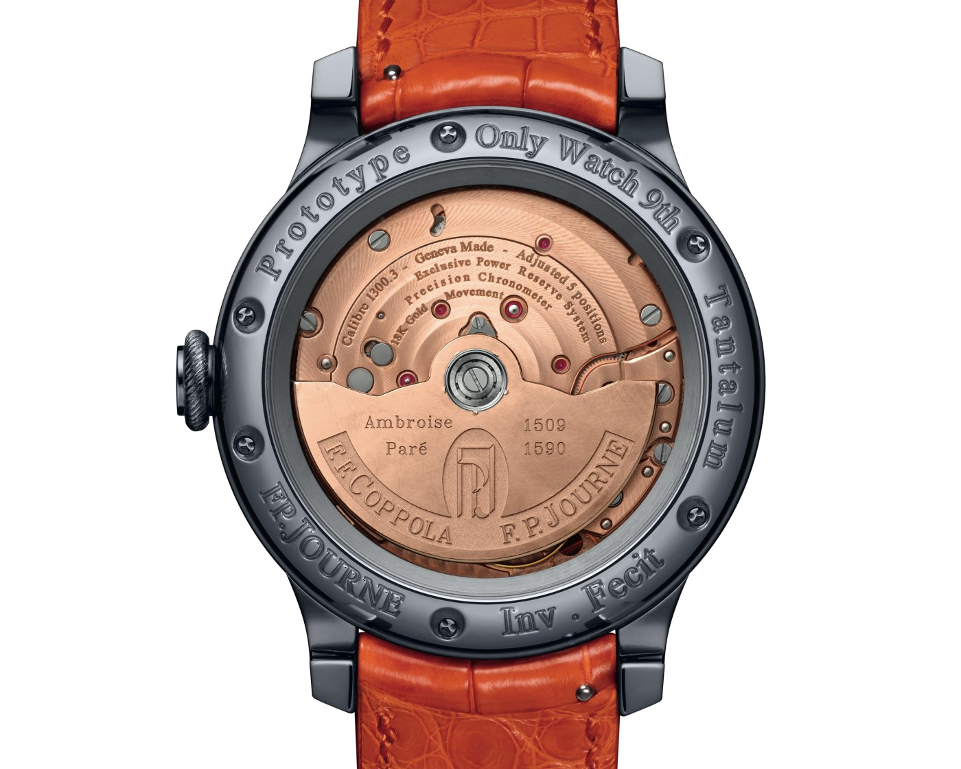 François-Paul Journe Francis Ford Coppola Only Watch 2021 caseback
