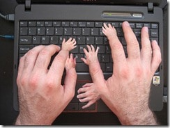 Creepy Typing Fingers