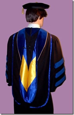 doctoral regalia phd hood