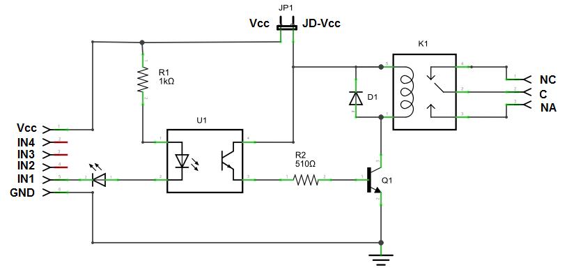Circuito Optoacoplador : Problema controlando sistemas hidraulicos