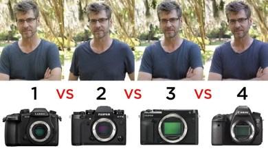 صورة الفرق بين كاميرات فول فريم وكاميرات كروب سنسور .. هل يعطي حجم حساس الكاميرا الكبير صورة أفضل؟