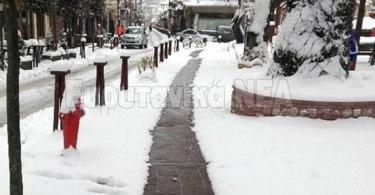 θερμαινόμενα πεζοδρόμια