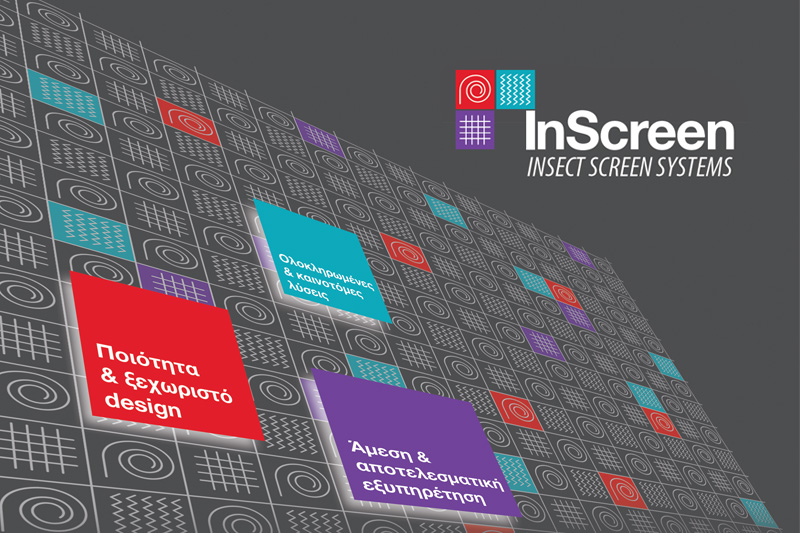 Inscreen insect screen systems