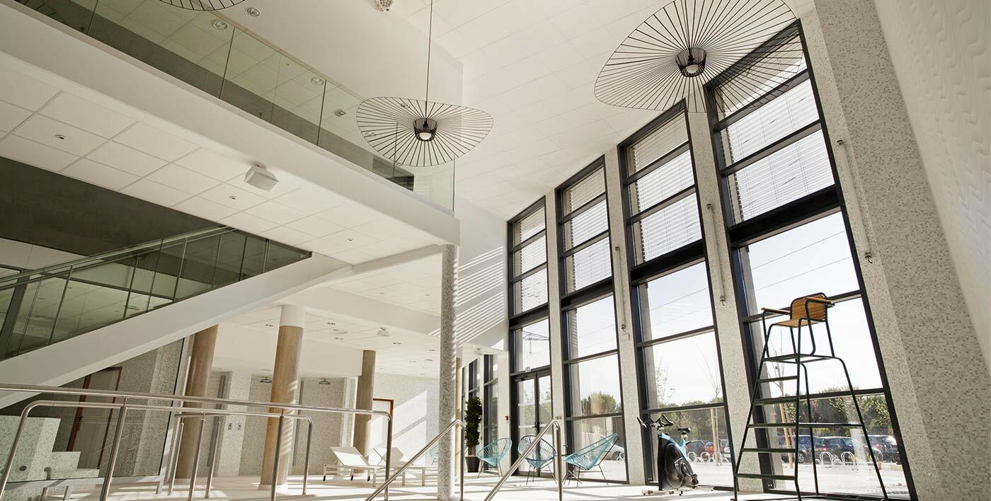 mur rideau aluminium tanagra design