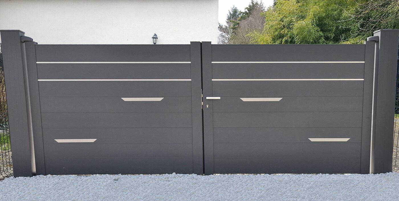 portail aluminium moderne wolf