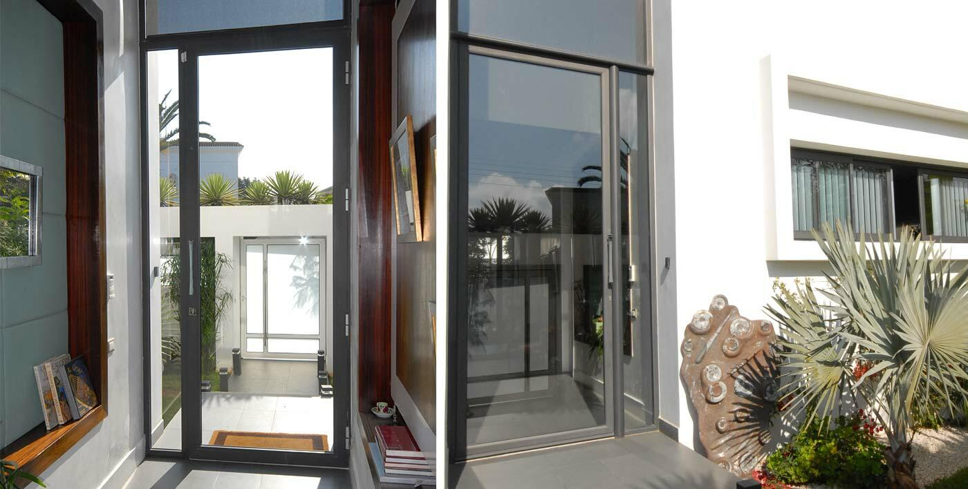 Dzao   Traditional alu door without thermal break   Traditional     Porte d entr    e traditionnelle sans rupture thermique DZAO