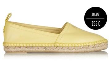 Takto vypadají tradiční espadrilky. Máte je už ve svém botníku? Žluté espadrilles jsou z kolekce Loewe léto 2014.