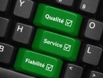 Qualité option binaire écrit sur un clavier