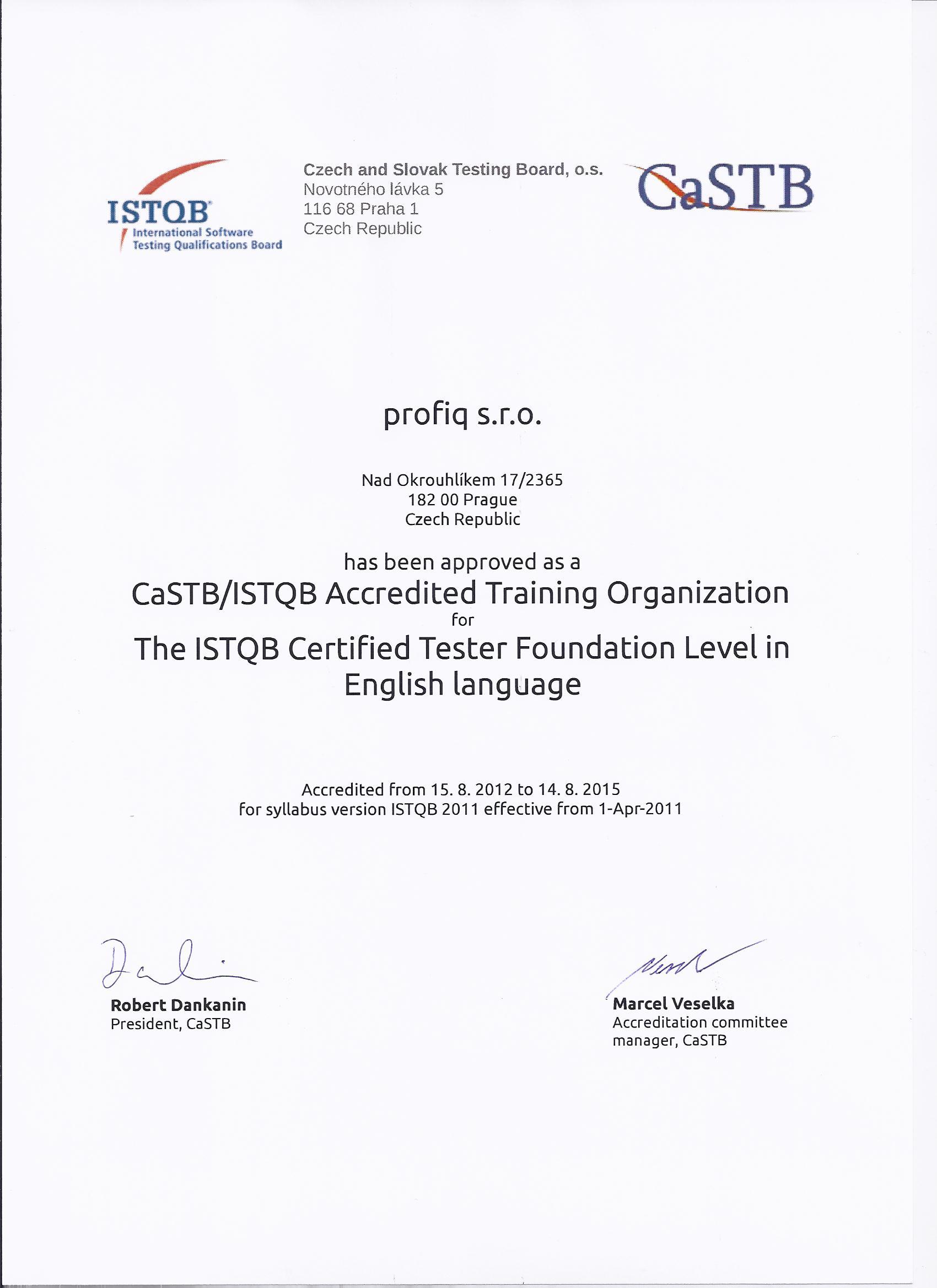 Profiq Becomes An Istqb Accredited Training Provider Profiq