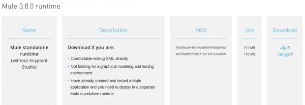 Download Mule runtime