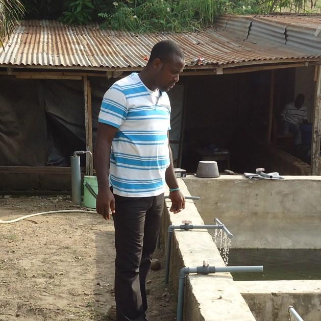 Abiodun Eniola at a farm