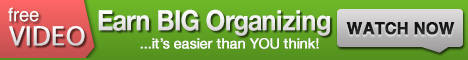 Earn Big From Organizing - Free Video