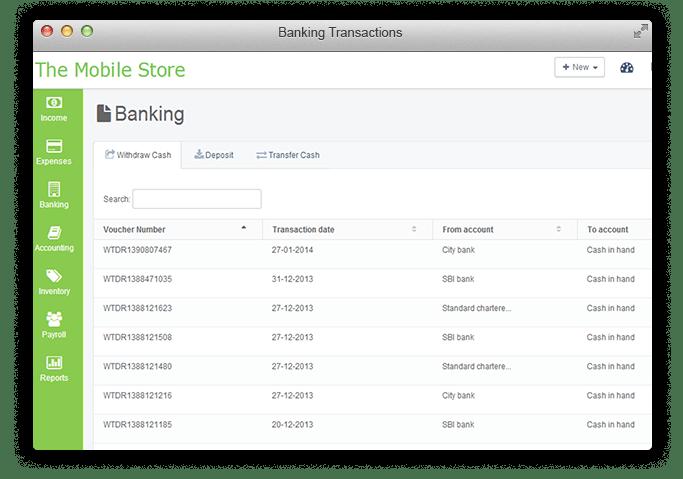 Record Banking Transactions