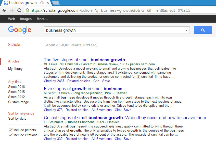 Google Scholar For Business