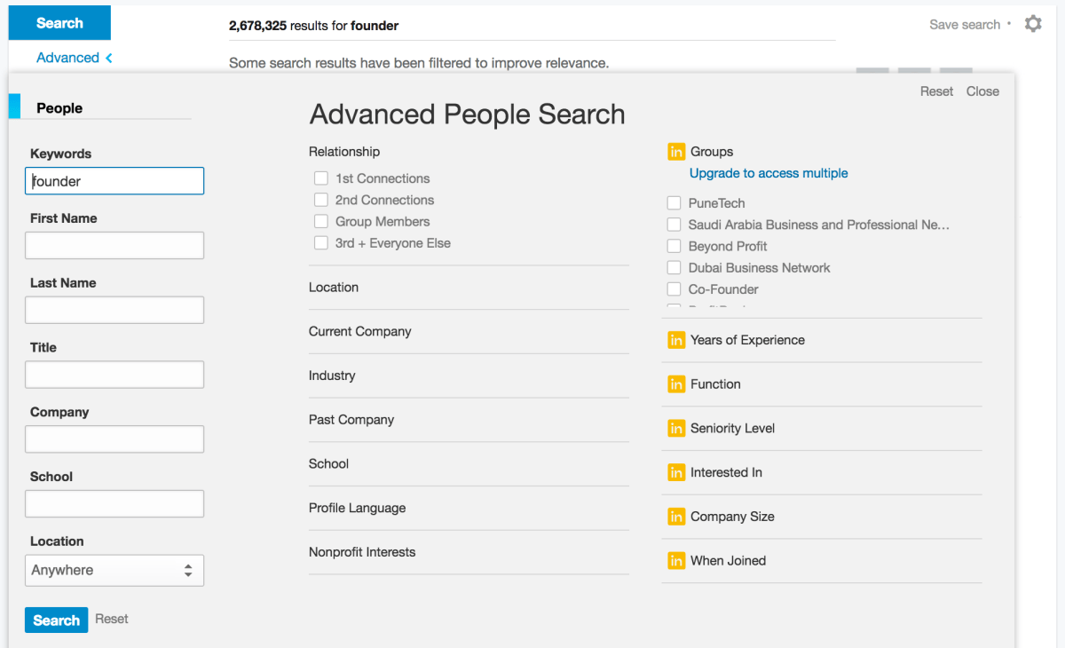 Search Leads Using LinkedIn Filters