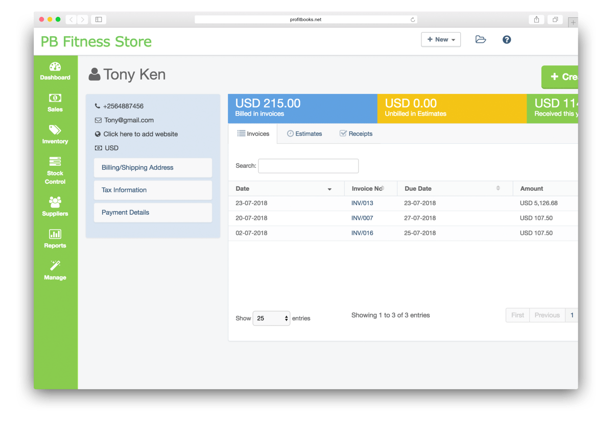 Create Invoices & Manage Customers