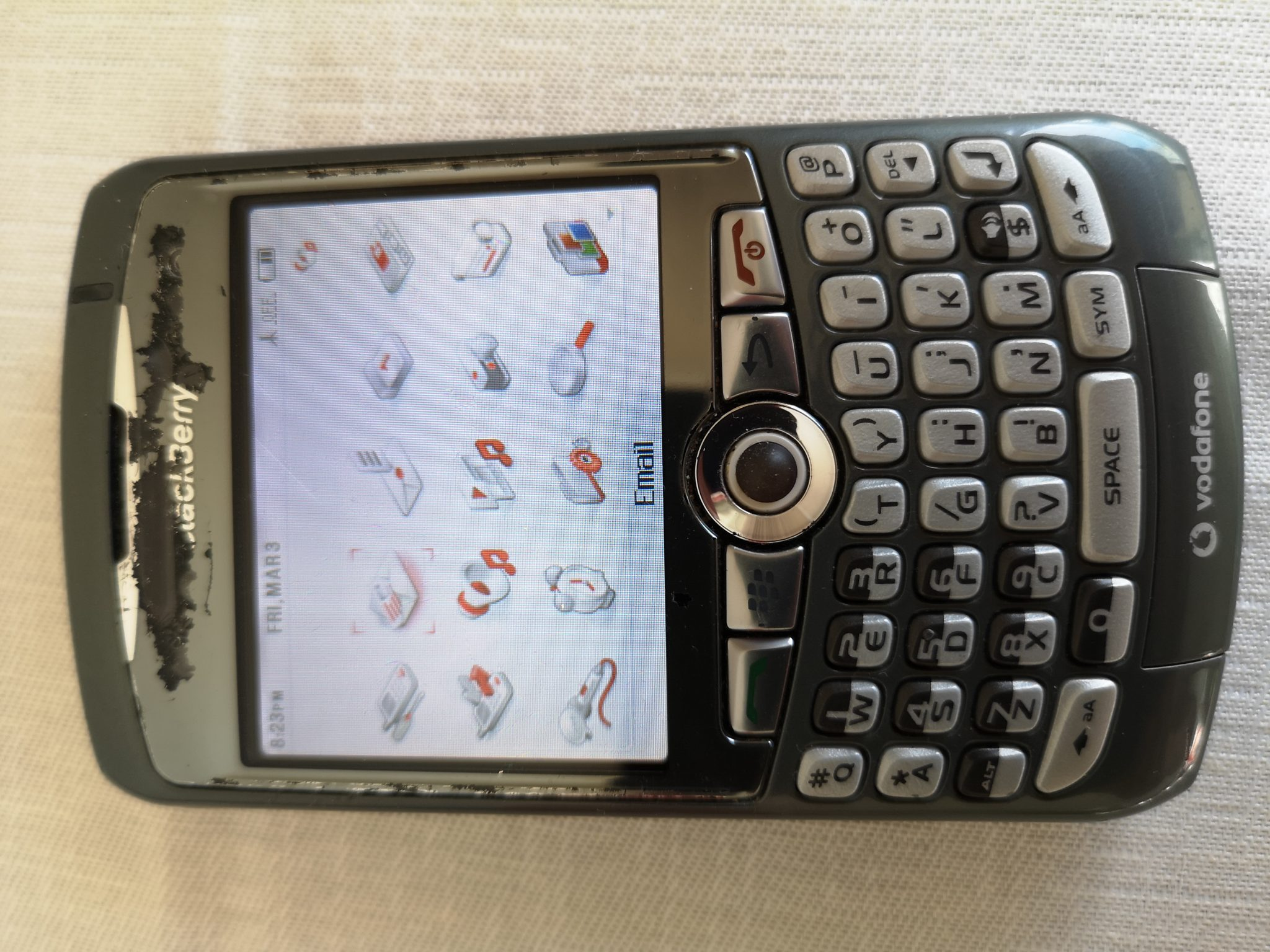 Blackberry Curve 8310 Review - Retro Mobile Phone with Rollerball