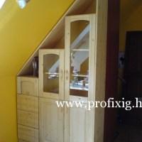 Fa beépített szekrény