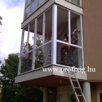 Teraszbeépítés műanyag ablakokkal