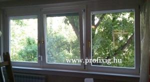 panel lakás fa ablak csere