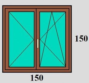 150x150 Váltószárnyas bukó-nyíló ablak