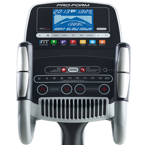 proform 735 smart strider elliptical console