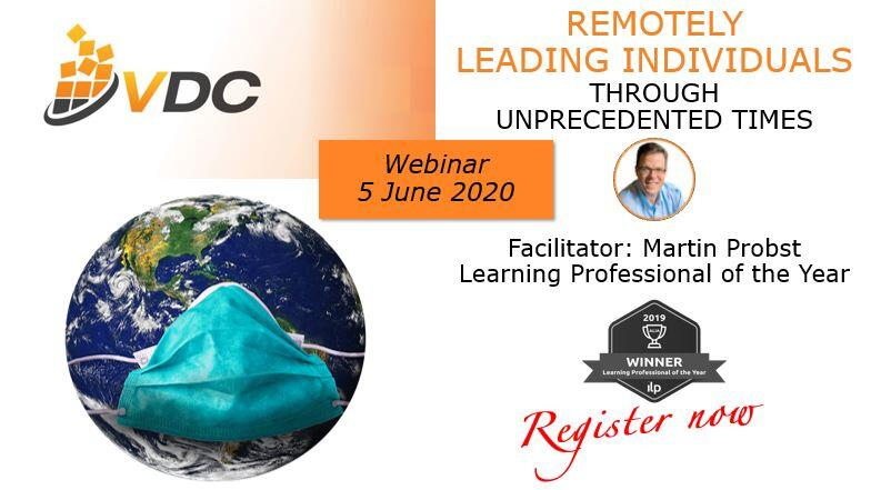 Remotely Leading Individuals through Unprecedented Times | Webinar (VDC)