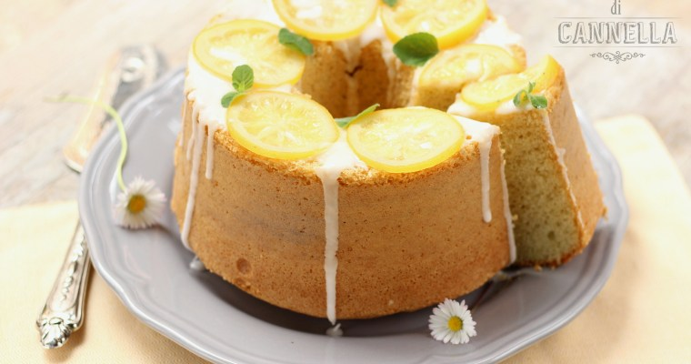 Chiffon Cake alle mandorle e limone – alta e profumata