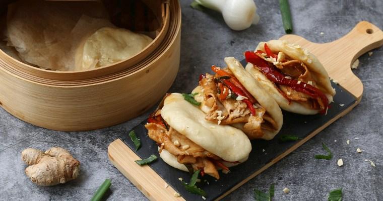 Gua bao con maiale in agrodolce e pollo teriyaki – panini al vapore