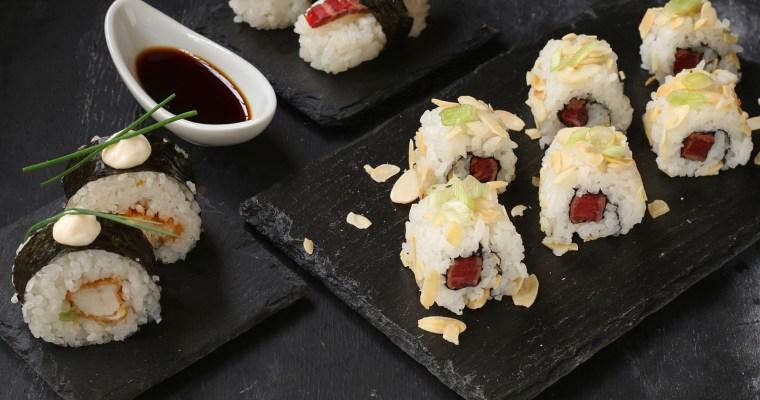 Sushi di carne – uramaki, nigiri e futomaki