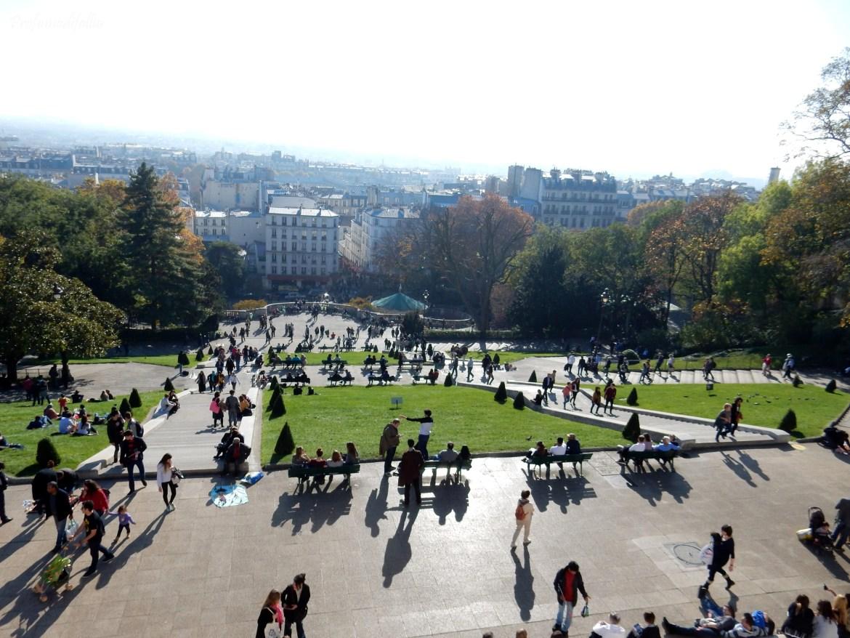 Vista dalla Basilica del Sacro Cuore Parigi