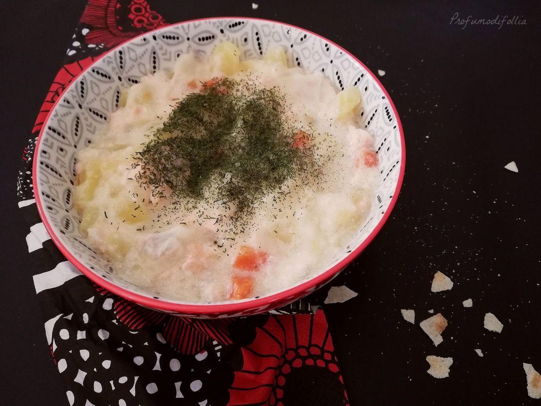 ricetta della zuppa di salmone finlandese