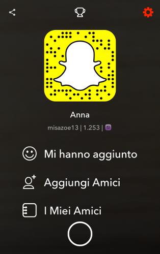 Modifica account Snapchat