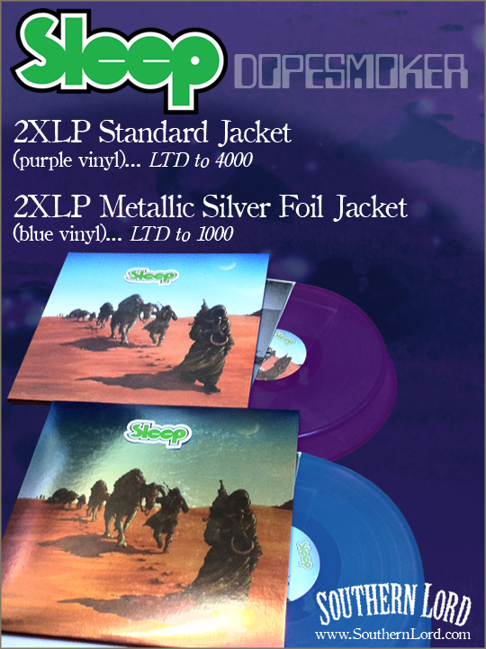 SLEEP: Dopesmoker Double LP Repressing Now Available Through