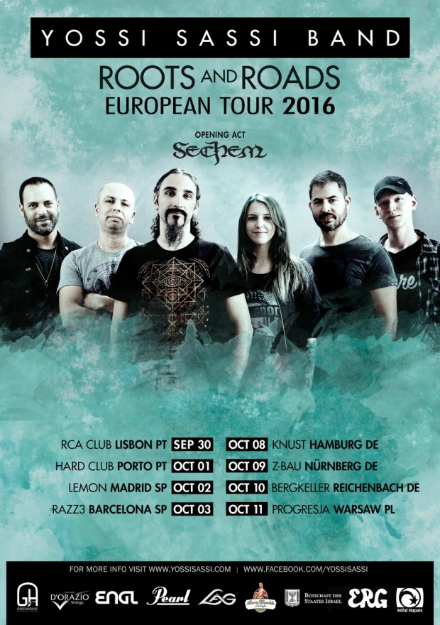 """Yossi Sassi Band 2016 """"Roots and Roads"""" Tour"""