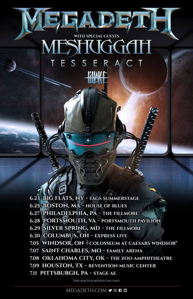 Megadeth US tour with Meshuggah