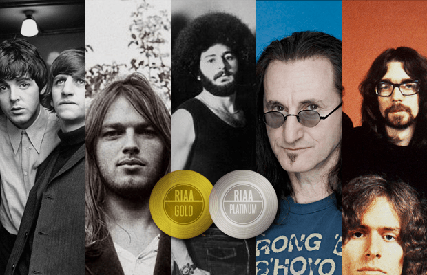 10 Prog Bands Certified Gold & Platinum by RIAA