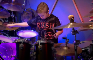 10-Year Old AVERY MOLEK is Back with RUSH Drum Medley