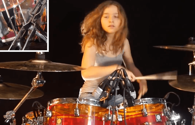 "Watch: Young Girl's Drum Cover of YES' ""Roundabout"""