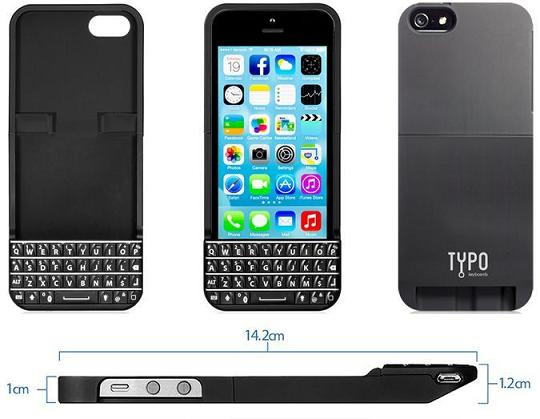 online retailer 46263 09a3c Typo Keyboard Case for Apple iPhone 5/5s first look