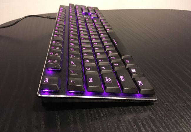 Image of purple RGB keyboard