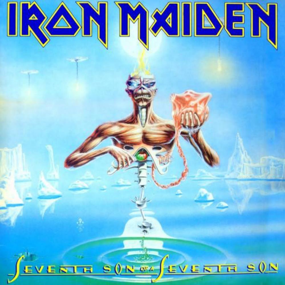 """Résultat de recherche d'images pour """"iron maiden seventh son of a seventh son album cover"""""""
