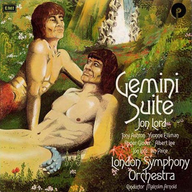 Portada de l'àlbum Gemini Suite, de Jon Lord, amb una imatge inspirada en la pintura de Caravaggio