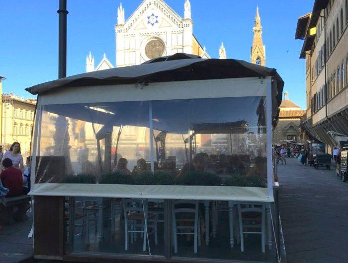 Dehors con vista su Santa Croce