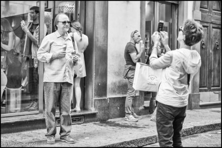 Ice cream selfie. Firenze. © Massimo Lensi