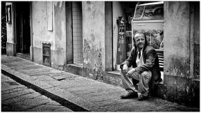 Mario in via Faenza, 2012. © Massimo Lensi