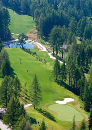 Cortina d'Ampezzo Golf Court, hole 8 (2010)