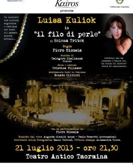 Il filo di perle al Teatro Anticodi Taormina