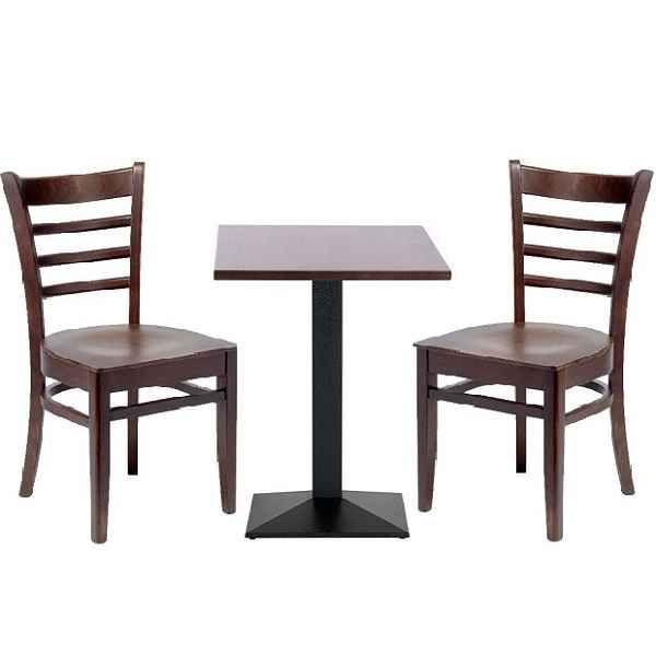 california coffee shop tables chairs set dark wood